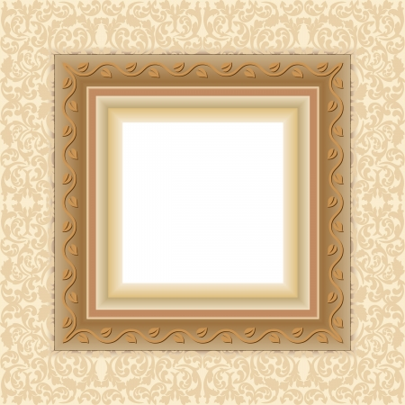 floral frame with transparent space insert for picture Stock Vector - 18265174