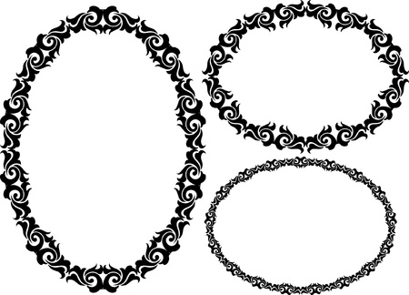 set of oval frame  Stock Vector - 18265173