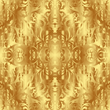 golden texture with ornaments Stock Vector - 18387765