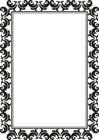 silhouette of rectangular decorative frame Stock Vector - 18500193