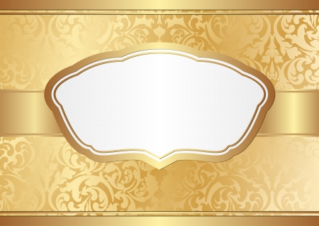 golden border: golden background with ornaments Illustration