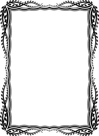 decorative rectangular frame Illustration