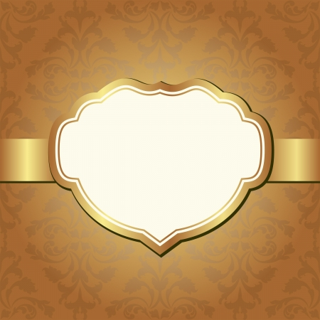 brown background with decorative frame and ornaments Stock Vector - 18851990