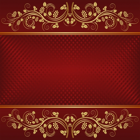 claret: dark red background with golden ornaments