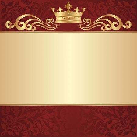 royal background with golden crown Stock Vector - 18878143