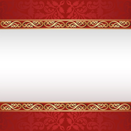 brushed gold: decorative background with golden ornaments