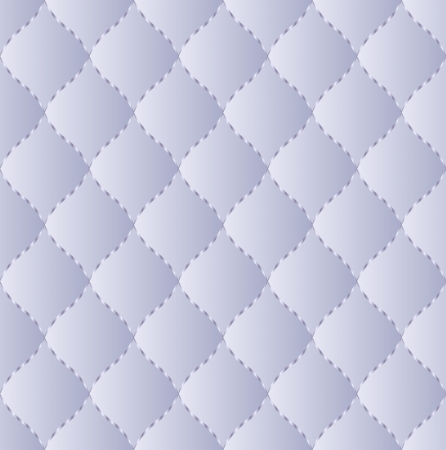 quilted fabric: blue quilted fabric embroidered thread - seamless pattern Illustration