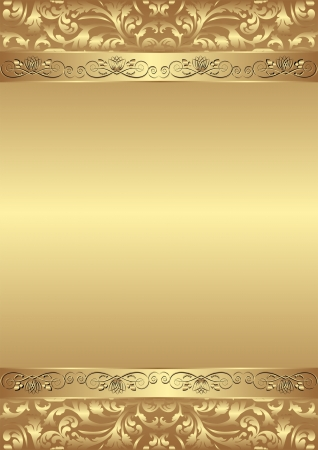 brushed gold: decorative golden background