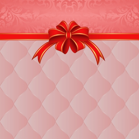 pink ribbon: pink background with red ribbon for gifts