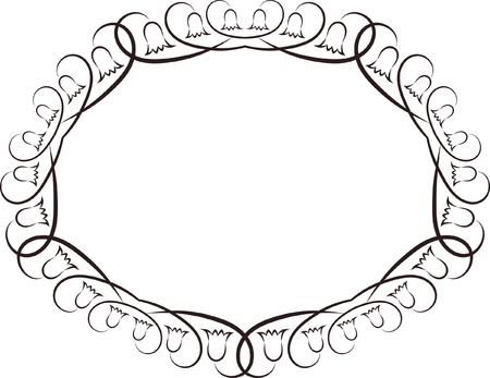 decorative oval frame  Stock Vector - 18967063