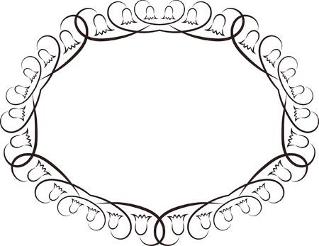 decorative oval frame Stock Vector - 18967063