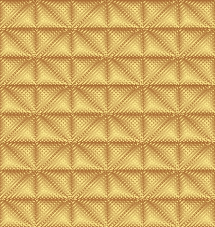 quilted fabric: golden pattern seamless