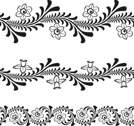 sem costura: padr�o floral sem emenda Ilustra��o