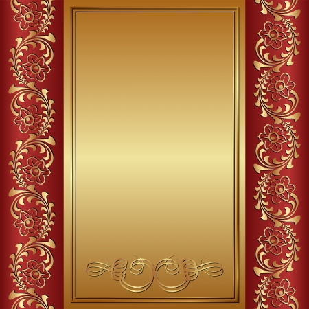 brushed gold: red and gold background with ornaments