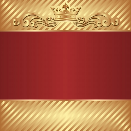 gold and red royal background Vector