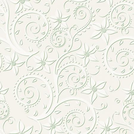 ecru: ecru background with floral pattern seamless