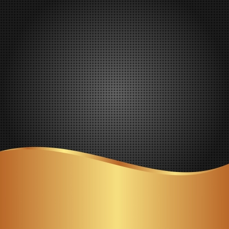 black and golden background with copy space Vector