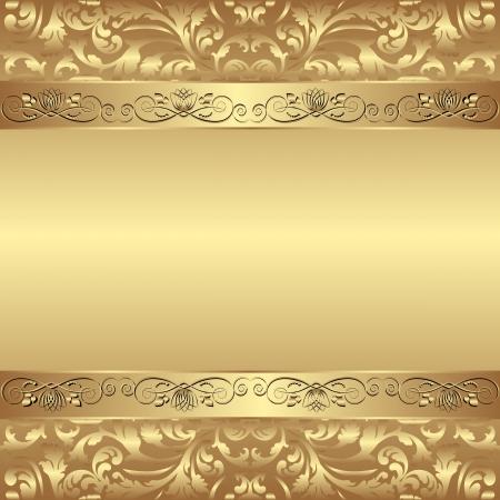 decorativo sfondo dorato - illustrazione vettoriale Vettoriali