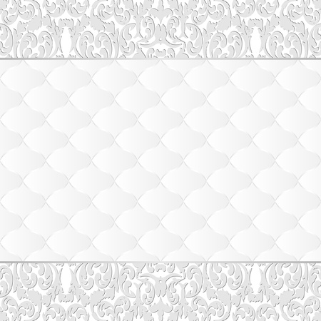 white background with floral border Vector