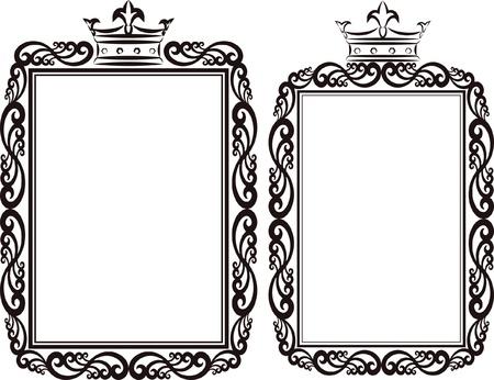 royal border - clip art illustration