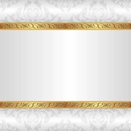 금속의: 황금 장신구와 흰색 배경