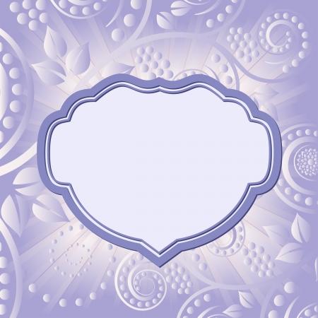 lila: floral abstract background with decorative frame
