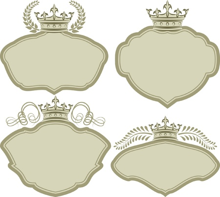 set of decorative frames with crown Stock Vector - 19744256