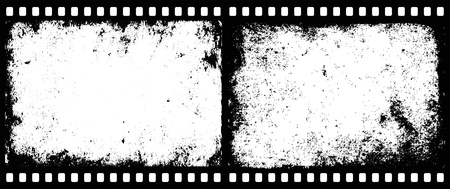 negativity: grunge film frames with transparent space insert for picture or text Illustration