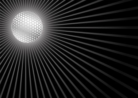 shadowed: black background with disco ball Illustration