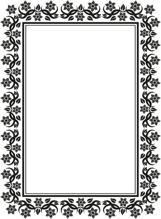 decorative floral frame Stock Vector - 19935001