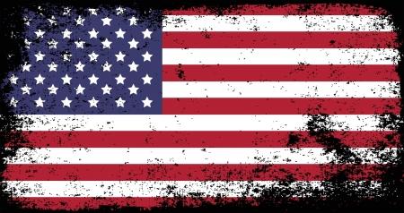 grunge, drapeau des Etats-Unis Vecteurs