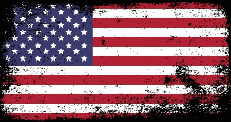 us grunge flag: grunge flag of USA Illustration