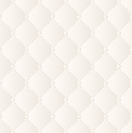 quilted fabric: creamy wallpaper seamless Stock Photo