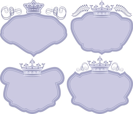 decorative frames with crown Stock Vector - 20412373