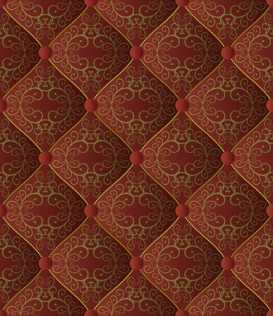 quilted fabric seamless Vector