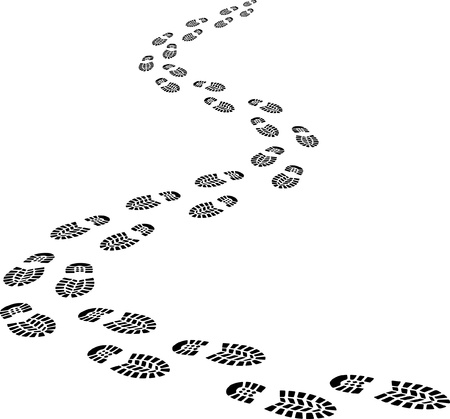 shoe print: Incoming footprints Illustration
