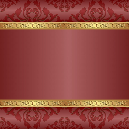 quadrat: red background with golden ornaments