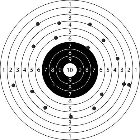 shooting gun: holes in target sport