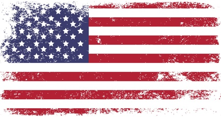 grunge flag of USA Vectores