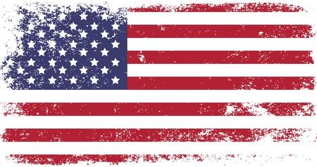 grunge flag of USA Illustration