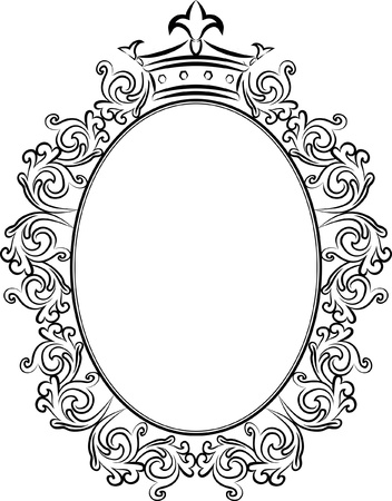 decorative frame with crowns  Vector