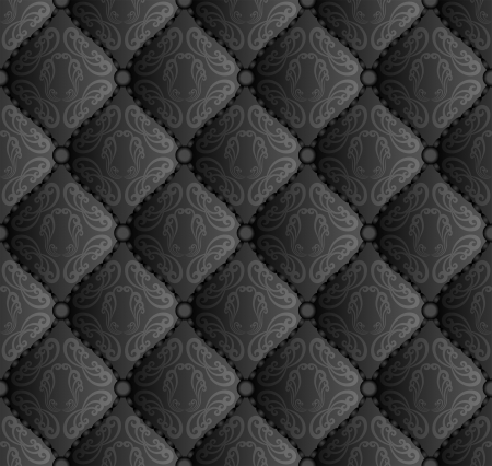 quilted fabric: black pattern seamless