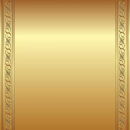 goldenem Hintergrund mit Ornamenten