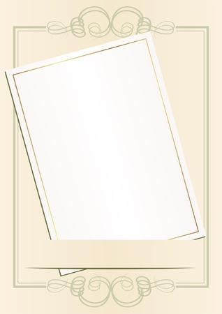 ecru: invitation card on glamour background