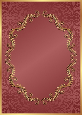 brass plate: red background with oval  border
