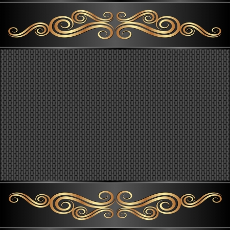 golden border: black background with golden ornaments