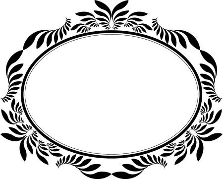 decorative frame oval Vector