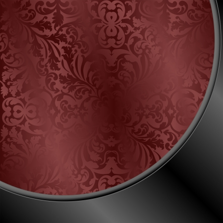 claret red: maroon and black background with abstract ornaments