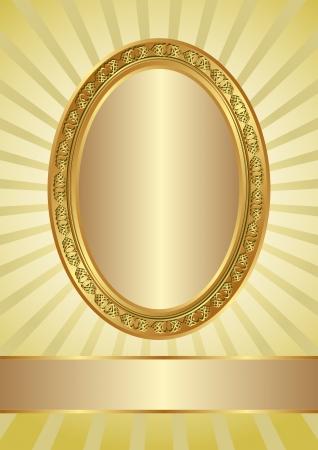ova: yellow background with golden ova frame