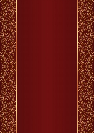 claret red: red background with golden ornaments